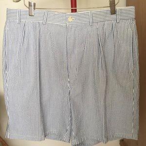 Men's Lacoste 100% cotton seersucker shorts